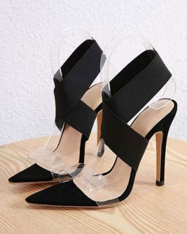 Open Toe Sandals Stiletto Heel Criss Cross Women's Shoes