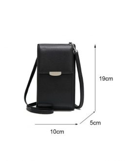 PU Leather Phone Purse Mini Shoulder Handbag for Hiking and Travel