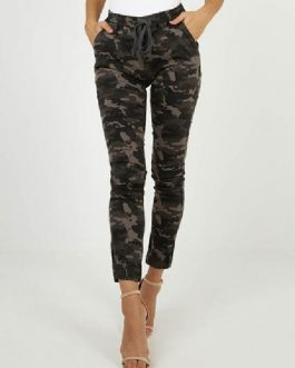 Pants Cotton Blend Camouflage Trousers