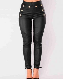 Pants PU Leather Trousers