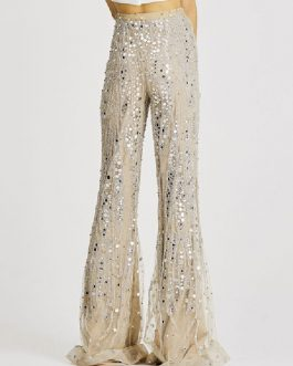 Pants Polyester Raised Waist Floral Print Trousers