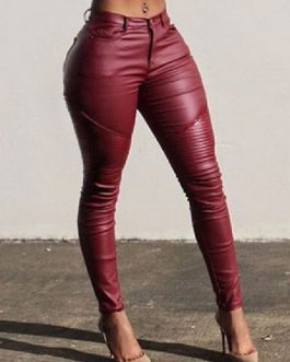 Casual Skinny Polyester Trouser