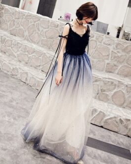 Prom V Neck A Line Sleeveless Floor Length Sequins Pageant Dresses