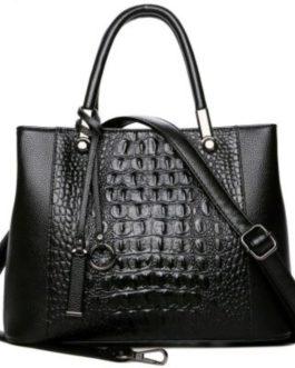 Real Leather Crocodile Pattern Shoulder Bag