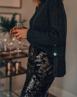 Sequin High Waist Sexy Pencil Skirt