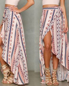Sexy Floral Bikini Cover-Up Split Maxi Skirt