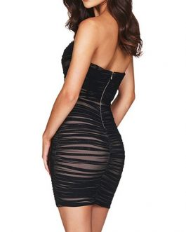 Sexy Sleeveless Strapless Bodycon Dress