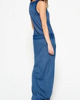 Slogan T Shirt Sleeveless Drawstring Waist Beach Dress