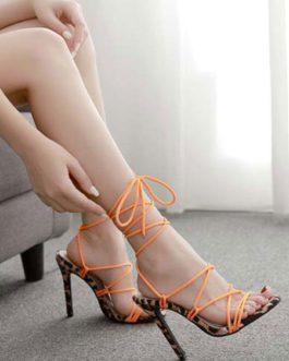 Stiletto Heel Chic Strap Adjustable Open Toe Sandals