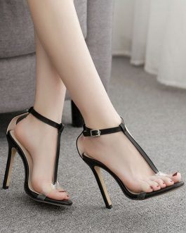 Stiletto Heel Open Toe Sandals Women's Shoes