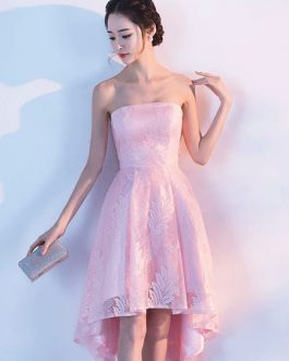 Two Piece Homecoming Lace Short Prom High Low Cocktail Dress