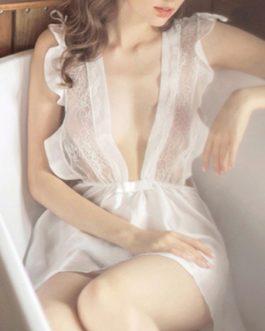 V-Neck Sleeveless Lace Lingerie Sleepwear
