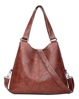 Vintage Leather Designer Large Capacity Tote  Luxury Handbags