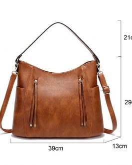 Vintage PU Leather Designer Luxury Shoulder Bags