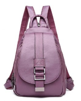 Vintage Sac a Dos Travel Leather Preppy Leather Backpacks