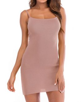 Bodycon Sleeveless Cut Out Bowknot Slip Dress