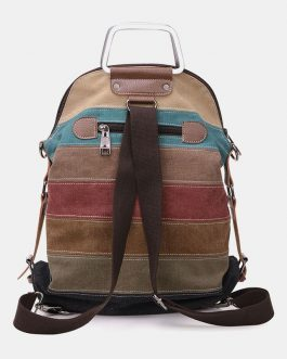 Casual Canvas Multi-carry Crossbody Bag Backpack