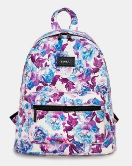 Casual Flower Printed Backpack Bag