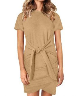 Casual High Collar Beach Dress