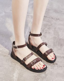 Chic Gladiator PU Sandals