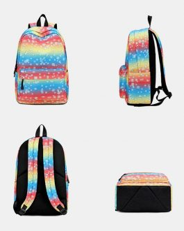 Colorful Large Capacity Waterproof Backpack School Bag