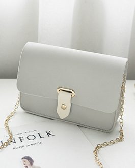 Cross Body Handbag – Pointed Strap Closure  Envelope Flap  Chain Strap