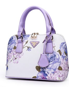 Double Handled Floral Handbag