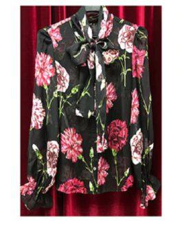 Elegant Silk  Floral Print Shirt