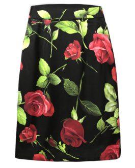 Rose Floral Print Vintage Skirts