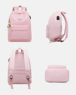 Fashion Large Capacity Backpack With USB Charging Port