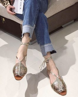 Flat Chic Open Toe Sandals