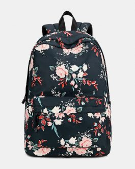 Floral Waterproof Casual Backpack School Bag