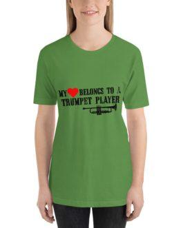 Heart belong to trumpet player Unisex Short Sleeve T-Shirts