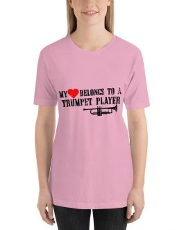 Heart belong to trumpet player Unisex Short Sleeve T-Shirts