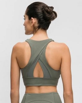High-neck Push Up Fitness Workout Bras