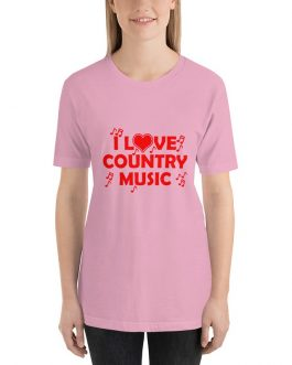 I Love Country music Unisex Short Sleeve T-shirt