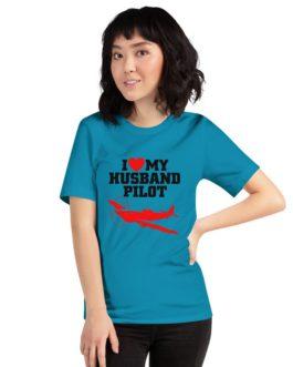 I Love My Husband Pilot Unisex Premium T-Shirt