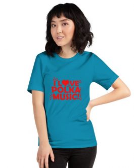 I love Polka Unisex Short Sleeve T-Shirts