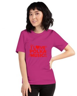 I love Polka Unisex Short Sleeve T-Shirts