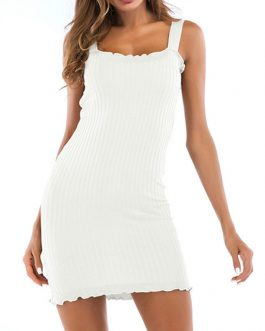 Knitted Bodycon Sleeveless Sheath Dress