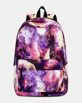Large Capacity Galaxy Waterproof Backpack School Bag