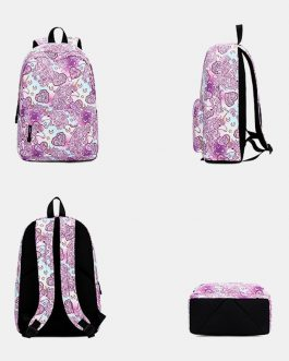 Large Capacity Print Waterproof Backpack