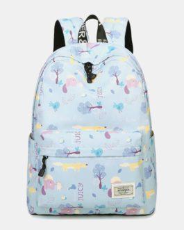 Large Capacity Waterproof Print School Backpack