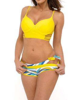 Longline Top Short Bottoms 2-Piece Bikini