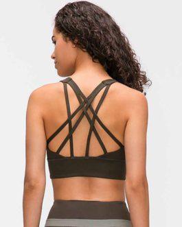Naked-feel Fabric Anti-sweat Pro Training Yoga Fitness Bras