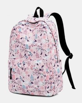 Print Waterproof Casual Backpack School Bag