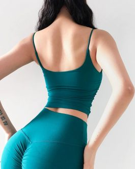 Side Scrunch Workout Sport Crop Tops