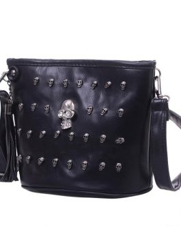 Skull Design Satchel Clutch Crossbody Bag