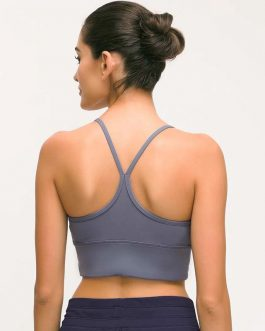 Soft Naked-feel Fabric Yoga Fitness Crop Tops