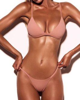 Solid Color 2-Piece String Bikini